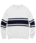 라이풀() IVY STRIPE KNIT SWEATER white