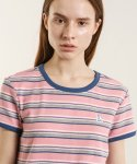 앰퍼샌드(AMPERSAND) MULTI STRIPE T-SHIRTS PINK
