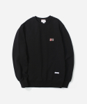커버낫(COVERNAT) SIGN LOGO CREWNECK BLACK