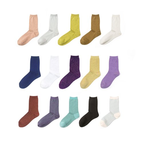 아이헤이트먼데이(I HATE MONDAY) glitter pearl socks_5 SET