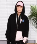 앳 더 모먼트(AT THE MOMENT) [UNISEX] Zip-up Hoodie (BLACK)