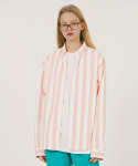위캔더스(WKNDRS) PIN STRIPE SHIRTS (PINK)