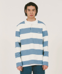 위캔더스(WKNDRS) STRIPE PK SHIRTS (SKY BLUE)
