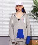 앳 더 모먼트(AT THE MOMENT) [UNISEX] Zip-up Hoodie (GRAY)