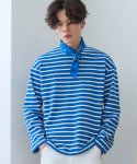 로얄위(THE ROYAL 'WE) Tomorrow Stripe T-shirts Blue