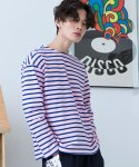 로얄위(THE ROYAL 'WE) Tomorrow Stripe T-shirts Pink