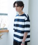 로얄위(THE ROYAL 'WE) Heavy Block T-shirts Navy