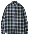 모디파이드() M#1252 multi plaid check shirt (green)