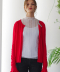 monts301 color block red cardigan (3color)