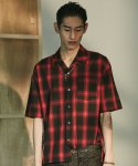 레이트() HAWAIIAN OVERSIZE SHIRTS RED