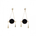 트레쥬(TREAJU) full  moon onyx earring