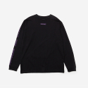 브라운브레스(BROWNBREATH) LIL SIGN LONGSLEEVE - BLACK (PURPLE)