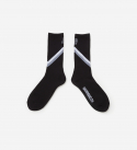 브라운브레스(BROWNBREATH) B BLOCK SOCKS - BLACK
