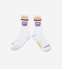 브라운브레스(BROWNBREATH) BB SECTOR SOCKS - WHITE(PURPLE)