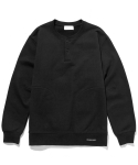 라이풀() HENLEY NECK POCKET SWEATSHIRT black