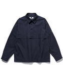 라이풀(LIFUL) PULLOVER ANORAK POCKET SHIRT navy
