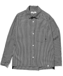 라이풀() SIDE TAPED GINGHAM SHIRT black