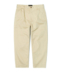 유니폼브릿지(UNIFORM BRIDGE) loose cropped chino pants beige