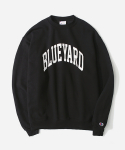 블루야드() COLLEGE CREWNECK BLACK/WHITE