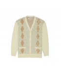 미스치프() ARGYLE CARDIGAN_cream/beige/gray