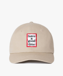 해브 어 굿 타임(HAVE A GOOD TIME) Frame Logo Polo Cap - Beige
