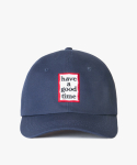 해브 어 굿 타임(HAVE A GOOD TIME) Frame Logo Polo Cap - Navy