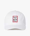 해브 어 굿 타임(HAVE A GOOD TIME) Frame Logo Polo Cap - White