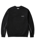 인사일런스(INSILENCE) Reflective Piped Sweatshirt (Black)