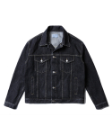 인사일런스() Oversized Denim Jacket (Black)