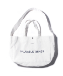 CANVAS MAIL BAG-WHITE