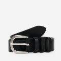 모노노(MONONO) 3 Ring Black_Italian Cow Leather Belt