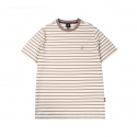 캉골(KANGOL) Basic Stripe Short Sleeves T 2547 Biscuit