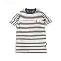 캉골(KANGOL) Basic Stripe Short Sleeves T 2547 Green