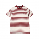 캉골(KANGOL) Basic Stripe Short Sleeves T 2547 Burgundy