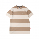 캉골(KANGOL) Bold Stripe Short Sleeves T 2548 Biscuit