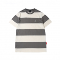 캉골(KANGOL) Bold Stripe Short Sleeves T 2548 Gray
