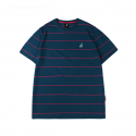 캉골(KANGOL) Border Short Sleeves T 2549 Green