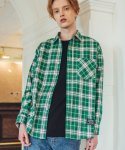 필루미네이트() UNISEX Spring Check Shirt-GREEN