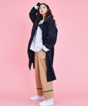 러브이즈트루(LUV IS TRUE) (UNISEX)KL TRENCH COAT_NV