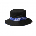 본챔스(BORN CHAMPS) BC TAPE BUCKET HAT BLACK CEQFMCA03BK