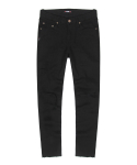 BLACK CROP JEANS-MATT BLACK