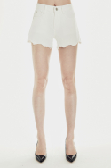 밀리언코르(MILLIONCOR) [Dana 8018] Ivory Cotton Shorts