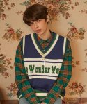 버닝(BURNING) Wonder Year Knit Vest (Navy)