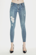 밀리언코르(MILLIONCOR) [Sonia 3157] Medium Destroyed Jeans