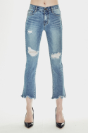 밀리언코르(MILLIONCOR) [Faina 3065] All Brush Destroyed Jeans