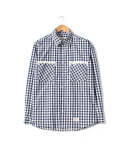 헨더(HANDER) TAPE OVERLAP SHIRTS [NAVY]
