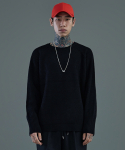더 티셔츠 뮤지엄() 17ss oversized wool knit [black]