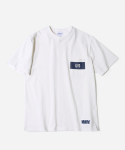 커버낫(COVERNAT) NAVAL POCKET T-SHIRTS WHITE