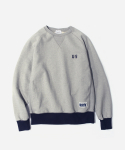 커버낫() NAVAL HEAVY SWEAT CREWNECK GRAY