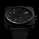 마이너스 에잇(MINUS-8) Square Chrono [Black / Black]